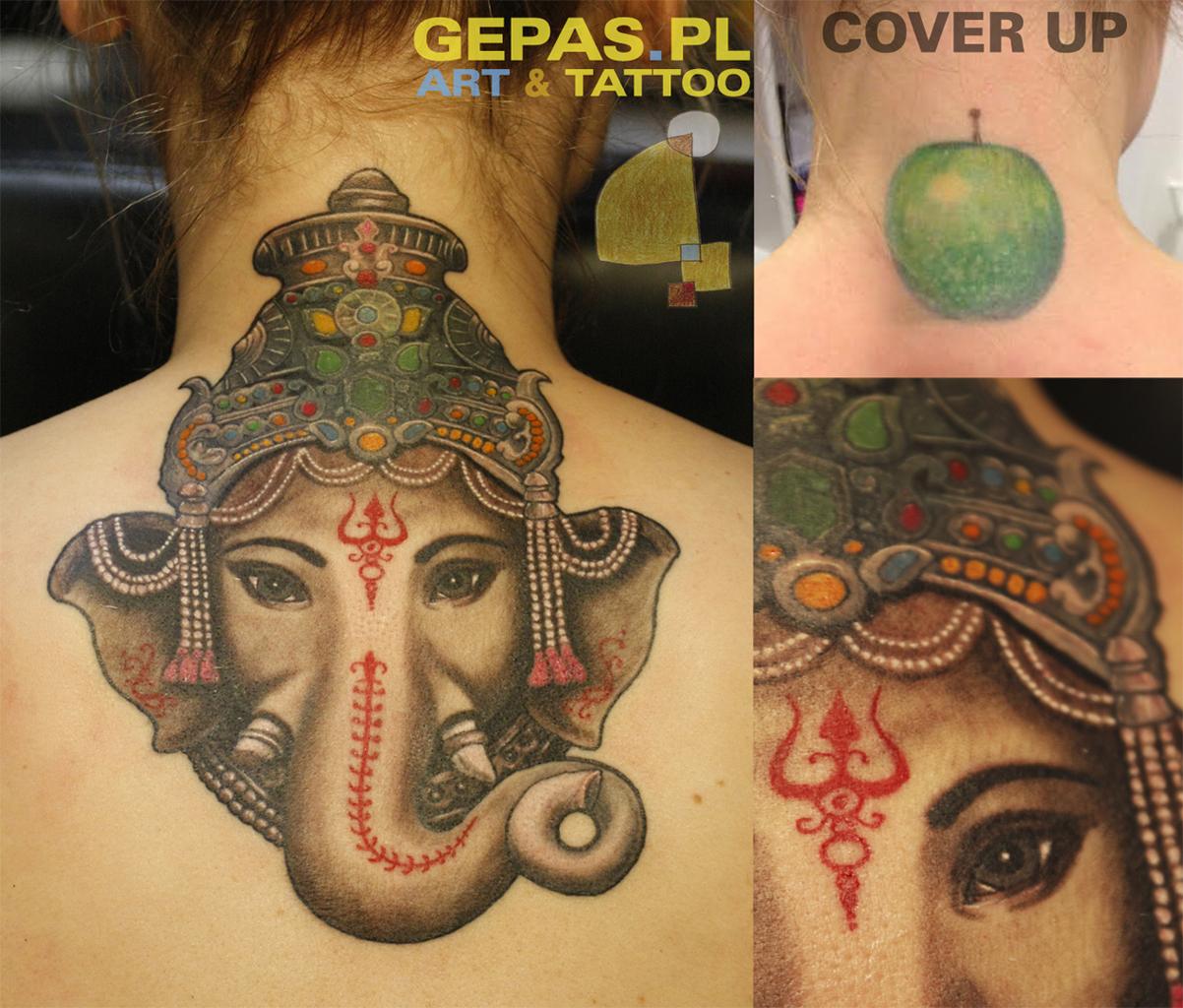 Cover Up Gepas Art Tattoo Studio Tatuażu Warszawa